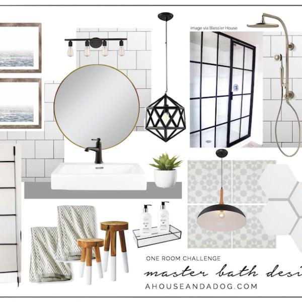One Room Challenge Master Bath Design | helloallisonblog.com