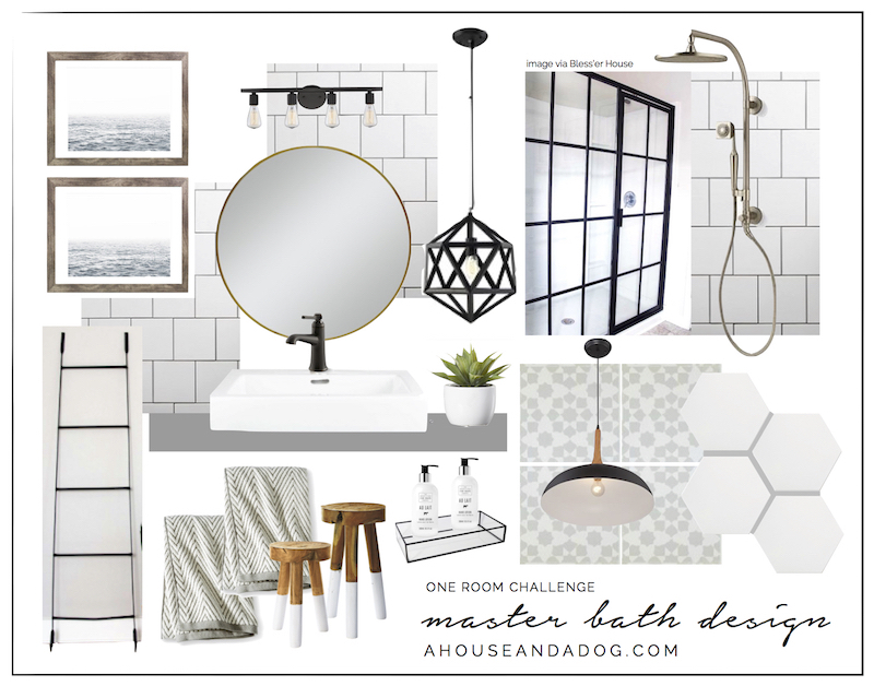 One Room Challenge Master Bath Design | ahouseandadog.com