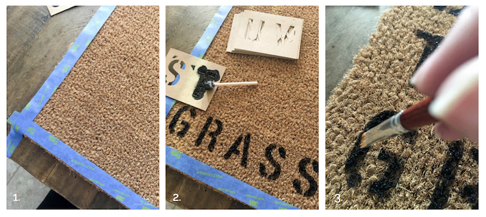 DIY Summer Welcome Mat | helloallisonblog.com