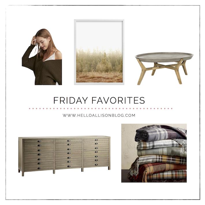 Friday Favorites for Fall | helloallisonblog.com