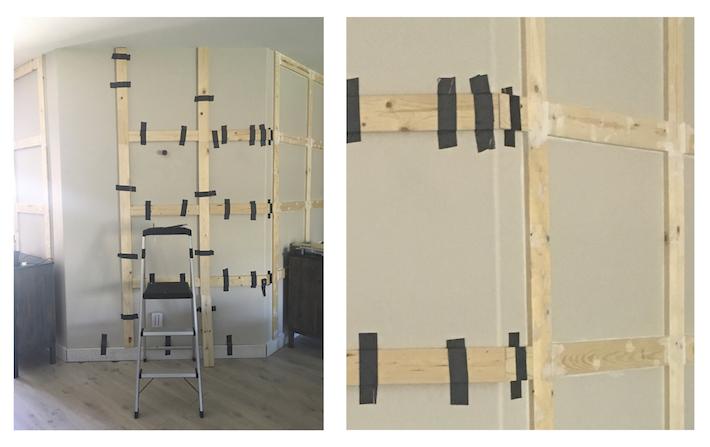 DIY Paneled Wall for Less Than $80 | helloallisonblog.com