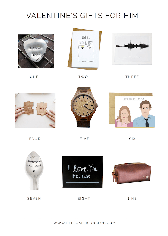 Valentine's Gift Guide for Him | helloallisonblog.com