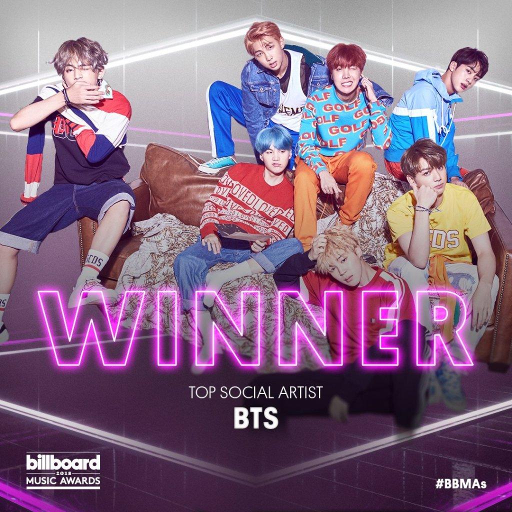 BTS top social artist