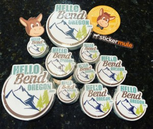 Hello Bend Stickers