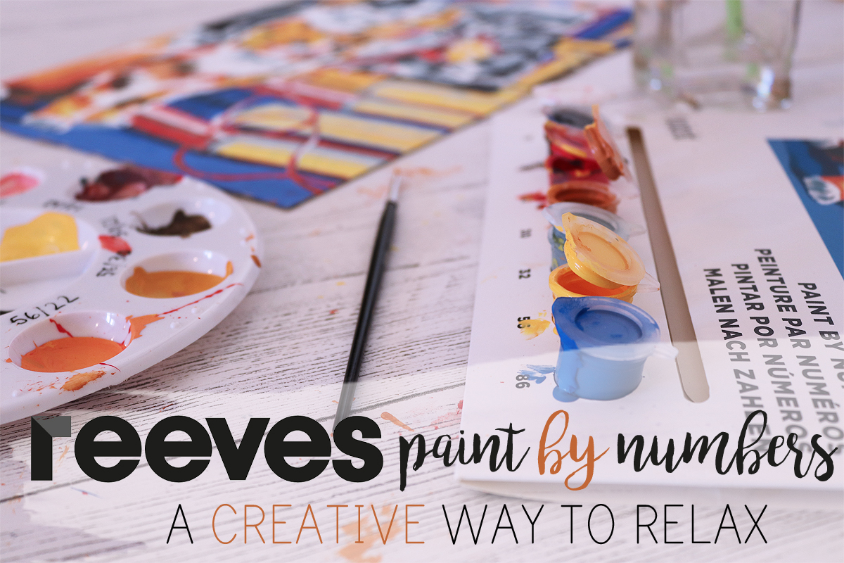 Reeves paint by numbers: a creative way to relax