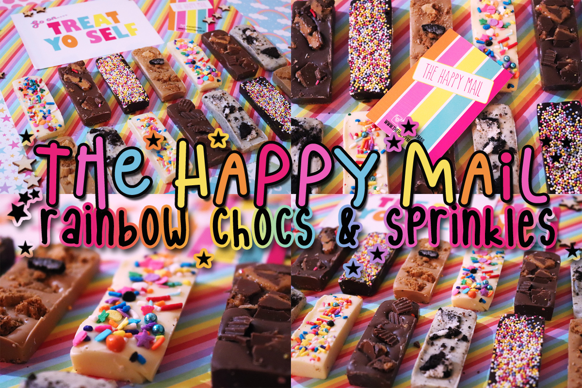 The Happy Mail – Rainbow Chocs & Sprinkles