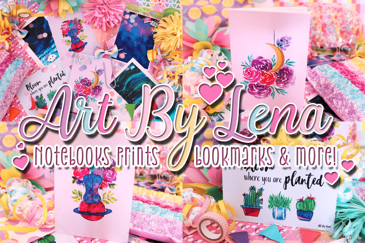 Art By Lena – Notebooks, Prints, Bookmarks & more!