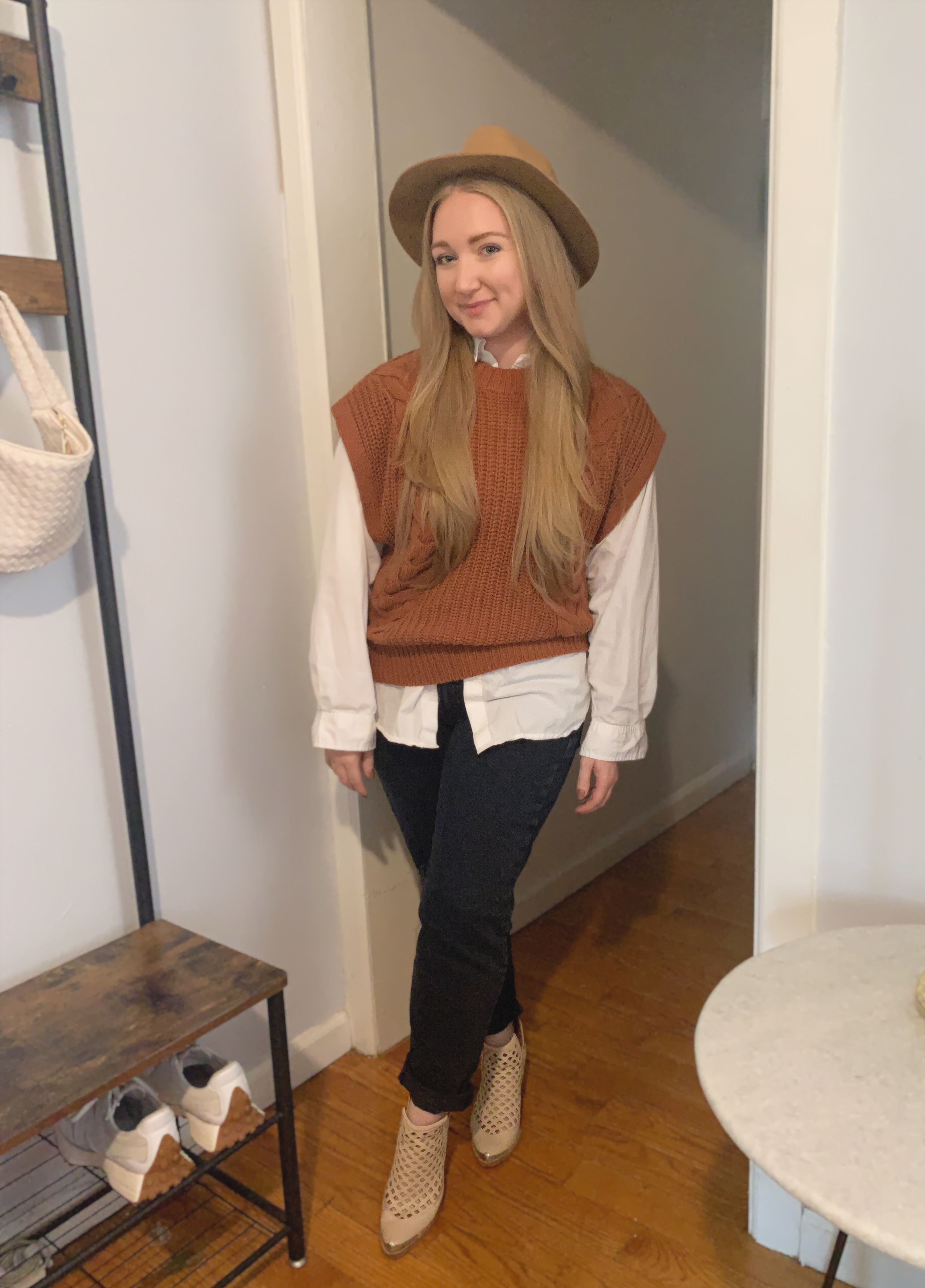 Sweater vests had a major comeback last spring and they won't be going anywhere this fall. Visit the link to see how I styled one sweater vest 3 ways, using pieces I already had in my wardrobe!