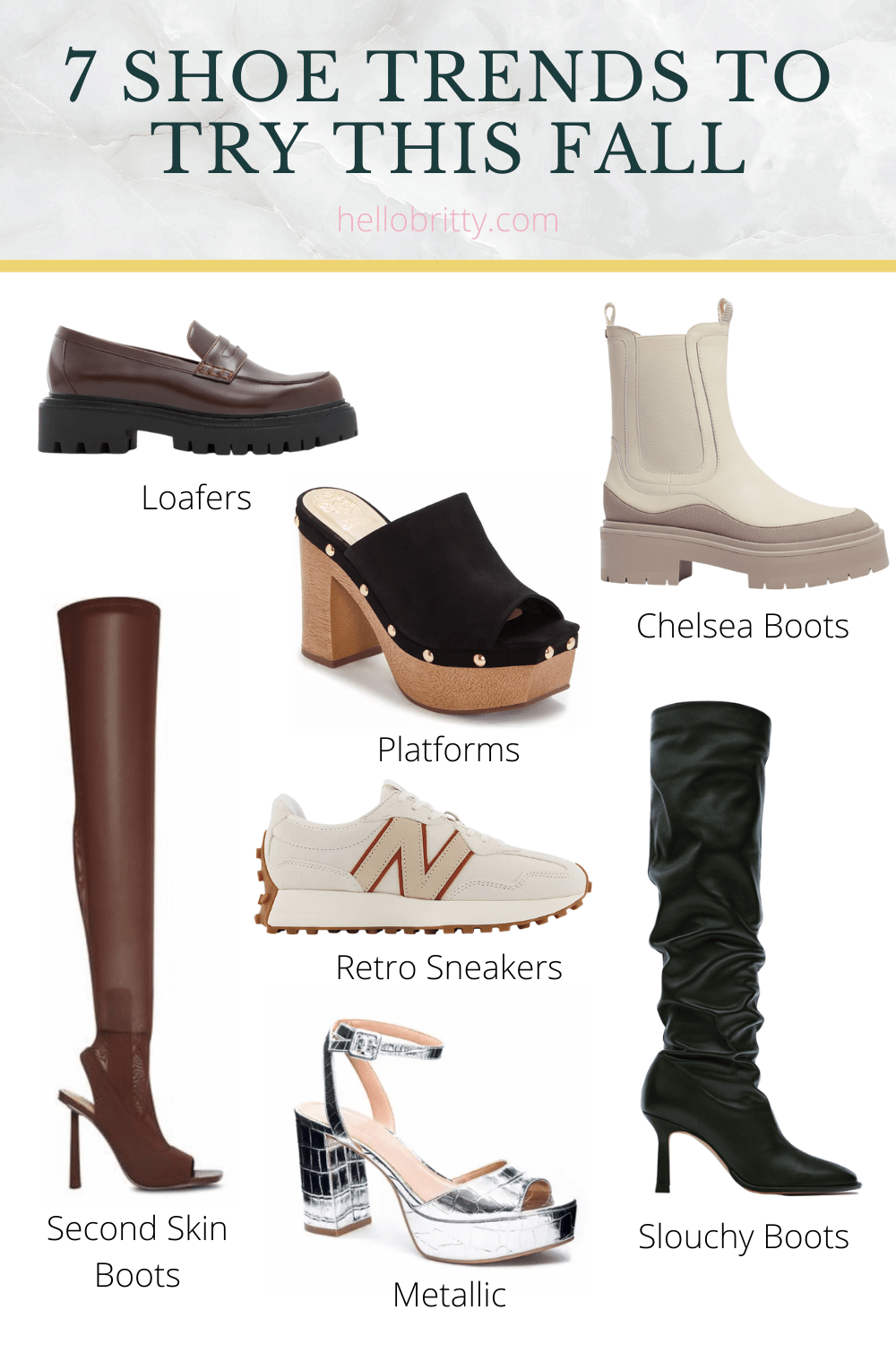 There's such a wide variety of shoe styles this fall - everything from retro sneakers to clunky loafers to thigh-high boots. There's literally something for everyone! Find your fall shoe inspiration, on the blog now.