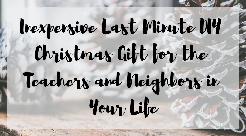 Inexpensive Last Minute DIY Christmas Gift for the Teachers and Neighbors in Your Life