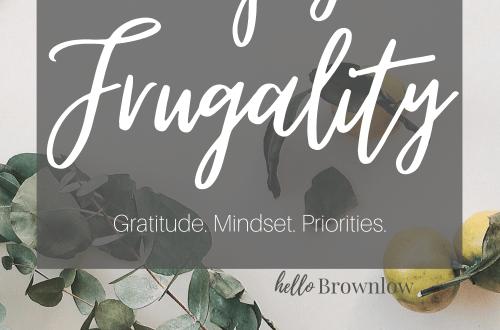 How to Enjoy Frugality