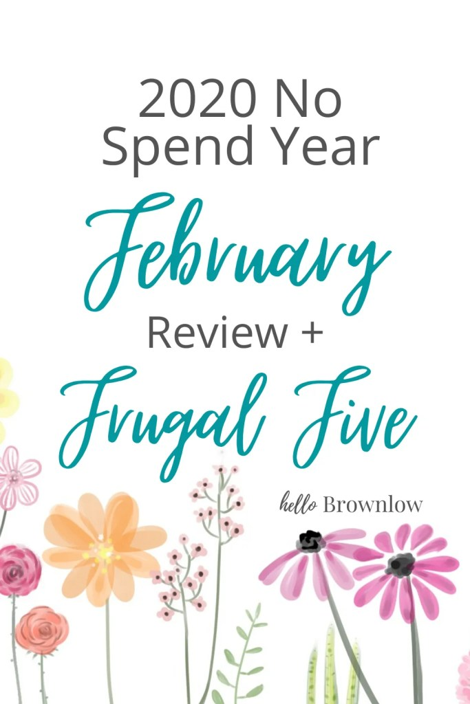 2020 No Spend Year - February Review + Frugal Five #frugalfive #nospendyear  #nospend #frugalfamily