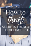 How to Thrift