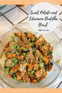 Sweet Potato and Edamame Buddha Bowl