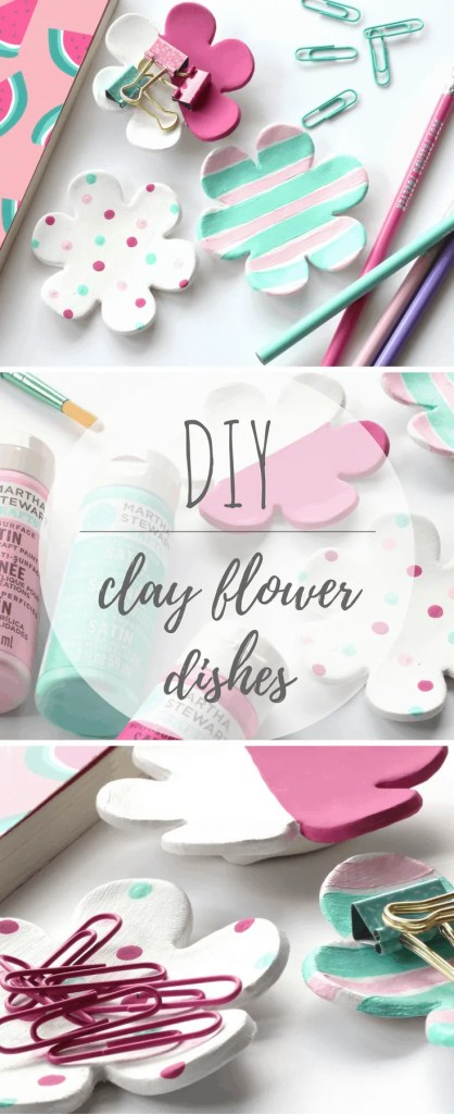 DIY Clay Flower Dishes