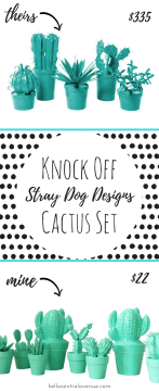 Stray Dog Designs Knock Off Cactus Set