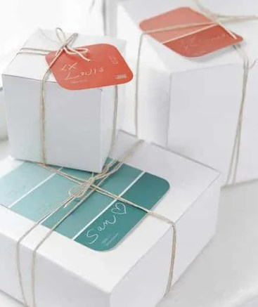 Real Simple paint swatch gift tags