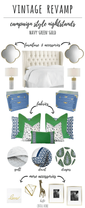 Vintage Revamp-navy, green, bold bedroom design
