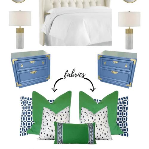 Vintage Revamp-navy, green, bold bedroom design