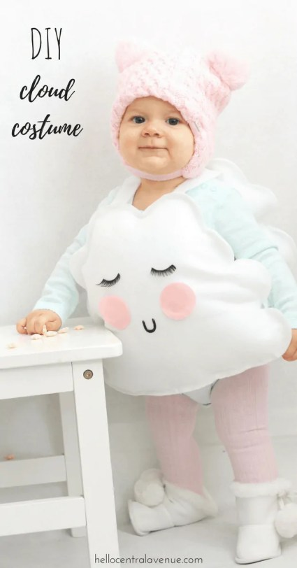 DIY No Sew Adorable Cloud Costume