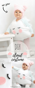 DIY-No Sew Cloud Costume