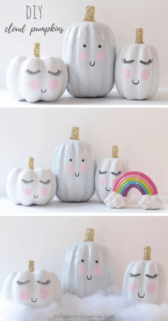 DIY-Cloud Inspired Pumpkins