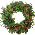 20 Faux holiday wreaths-no maintenance needed, evergreen, magnolia, pre-lit wreaths