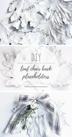 DIY Leaf Chair Back Placeholders