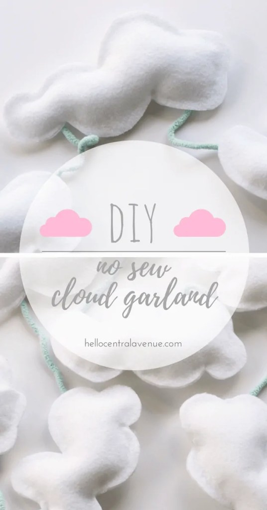 DIY-No Sew Cloud Garland