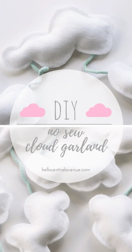 DIY Cloud Garland-adorable fluffy cloud garland for first birthday party decor