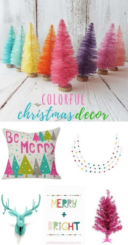 Colorful Christmas Decor-bright cheerful colors for decorating your home for Christmas