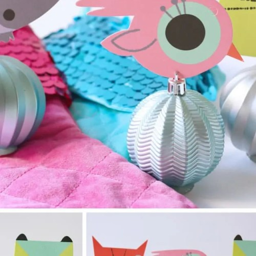 DIY-Ball Ornament Place Card Holders
