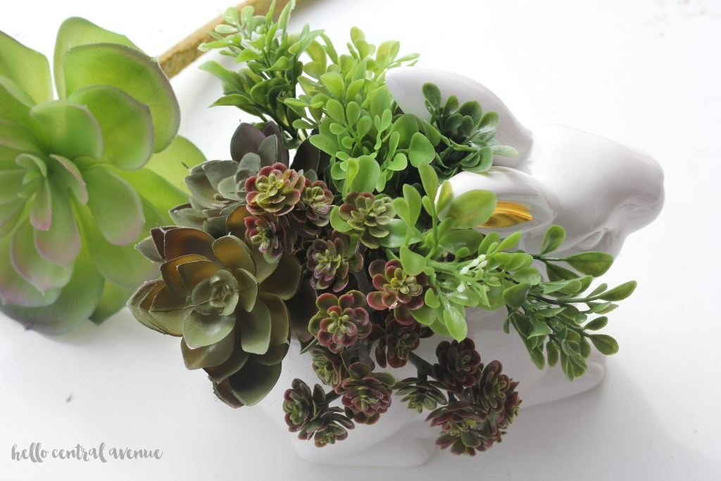 DIY Bunny Succulent Planter
