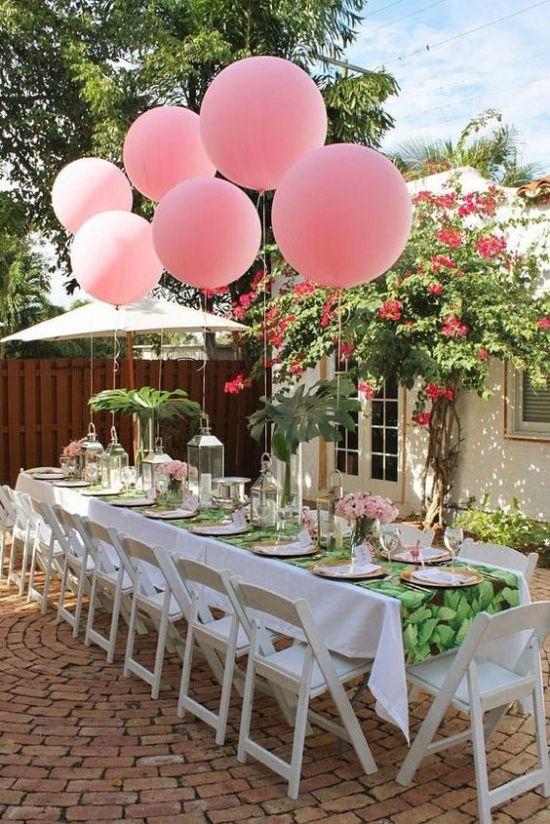 "36"" Round Light Pink Balloon from Blush Bazaar-inspiration for outdoor decor"