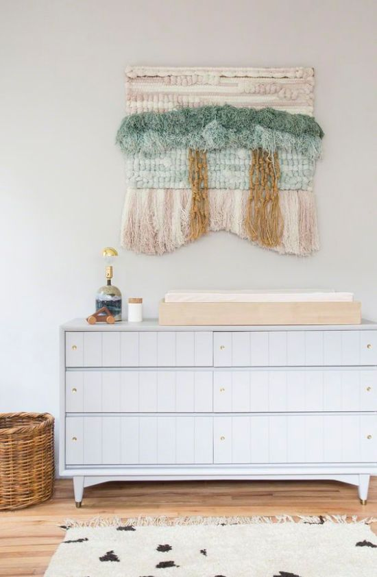 Looking for nursery wall decor? Here are ten things that could hang above your baby's changing table.