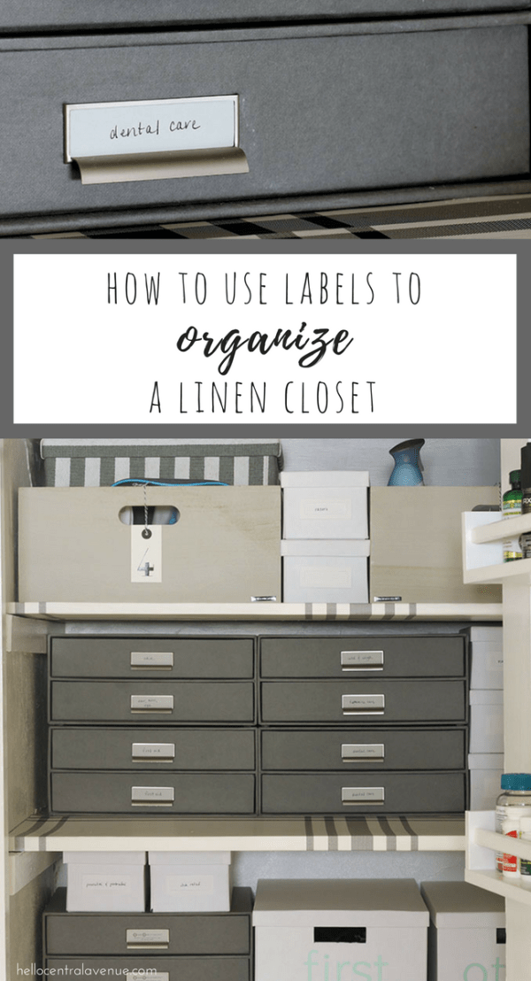 Check out some creative ways to label your linen closet. Linen closet storage labels come in all shapes and sizes. The possibilities are endless in making your closet crisp, clean, and functional.