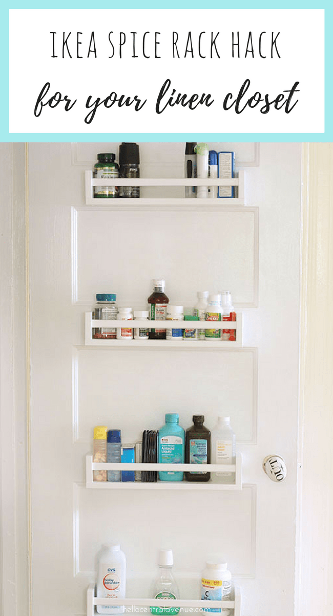 ikea spice rack hack for your linen