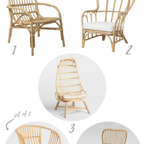 Affordable & Adorable Rattan Chairs