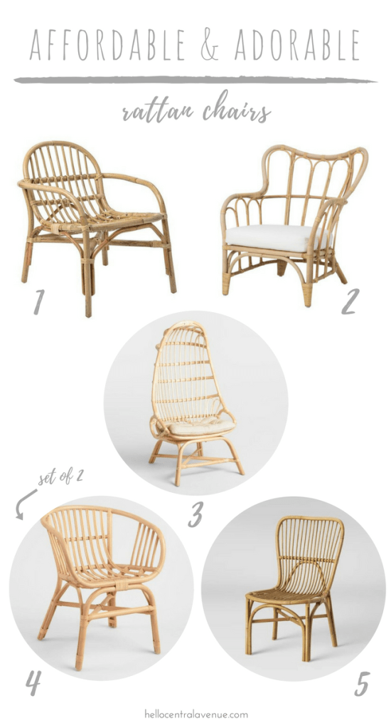 Affordable Adorable Rattan Chairs Hello Central Avenue