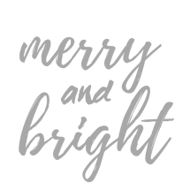 Merry & Bright Print light