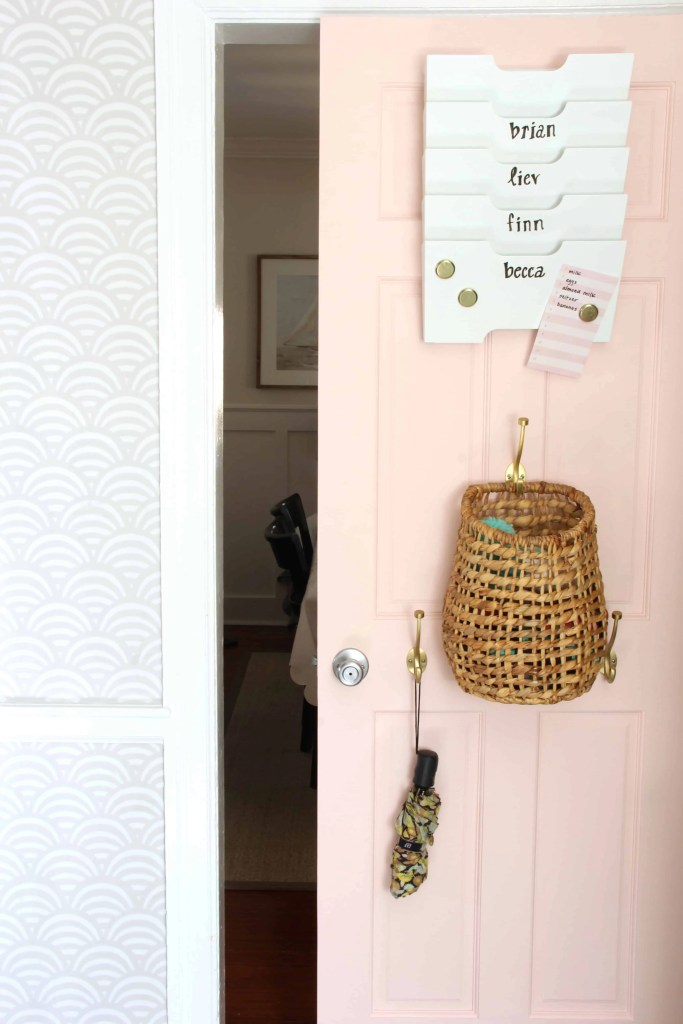 Family Command Center: Back of Door Storage Solution