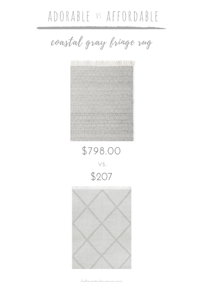 Adorable vs. Affordable: Coastal Fringe Rug