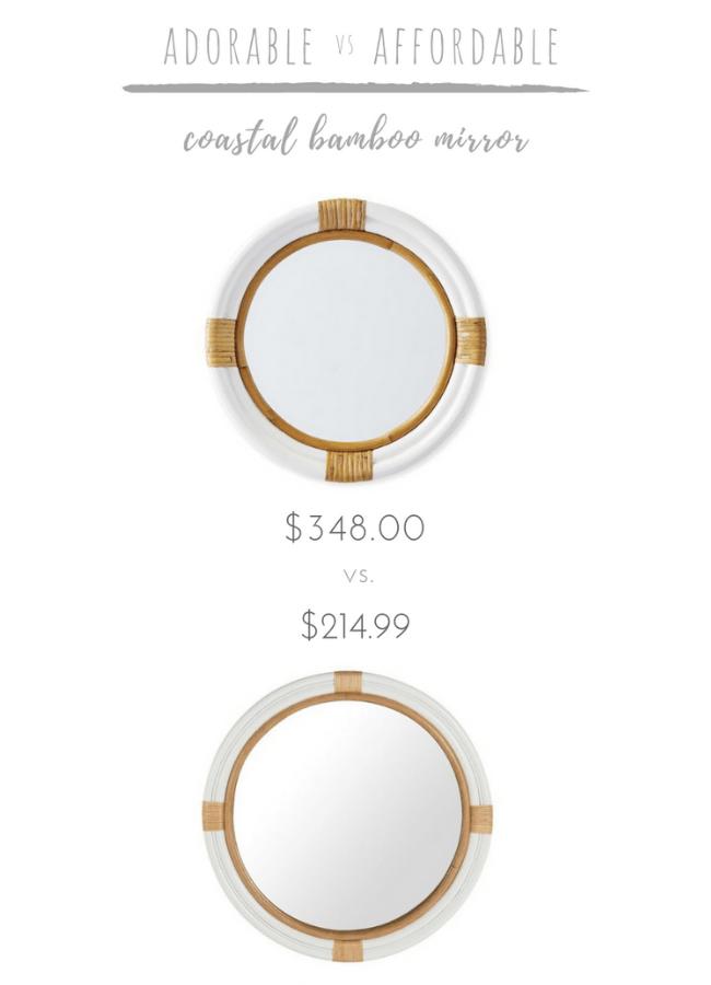 Adorable vs. Affordable: Coastal Bamboo Mirror