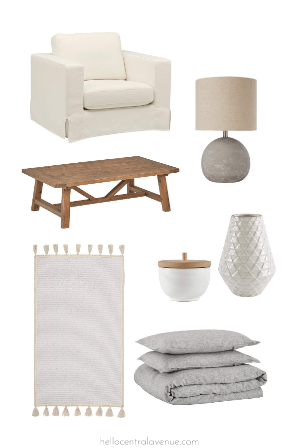 Amazon modern farmhouse coastal home decor. Affordable furniture and decor for your house!