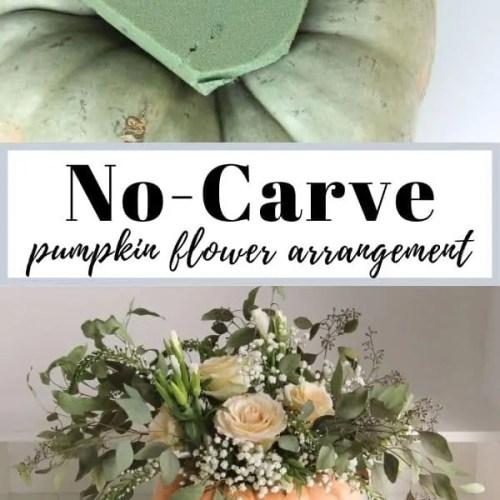 Easy Pumpkin Flower Arrangements-Including No-Carve
