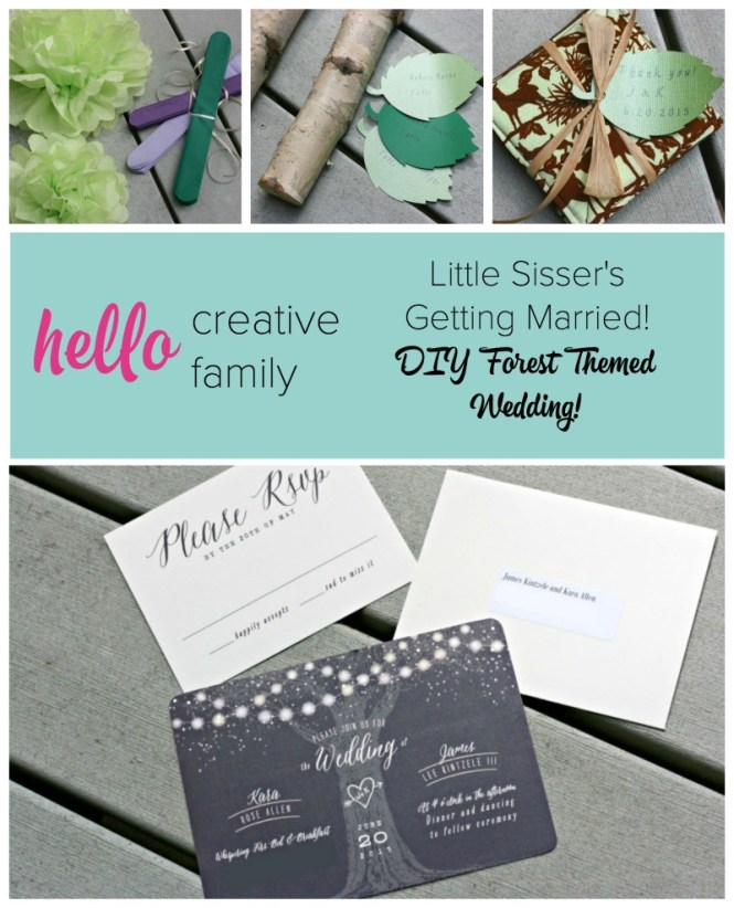 Creating A Diy Forest Themed Wedding For Little Sisser S