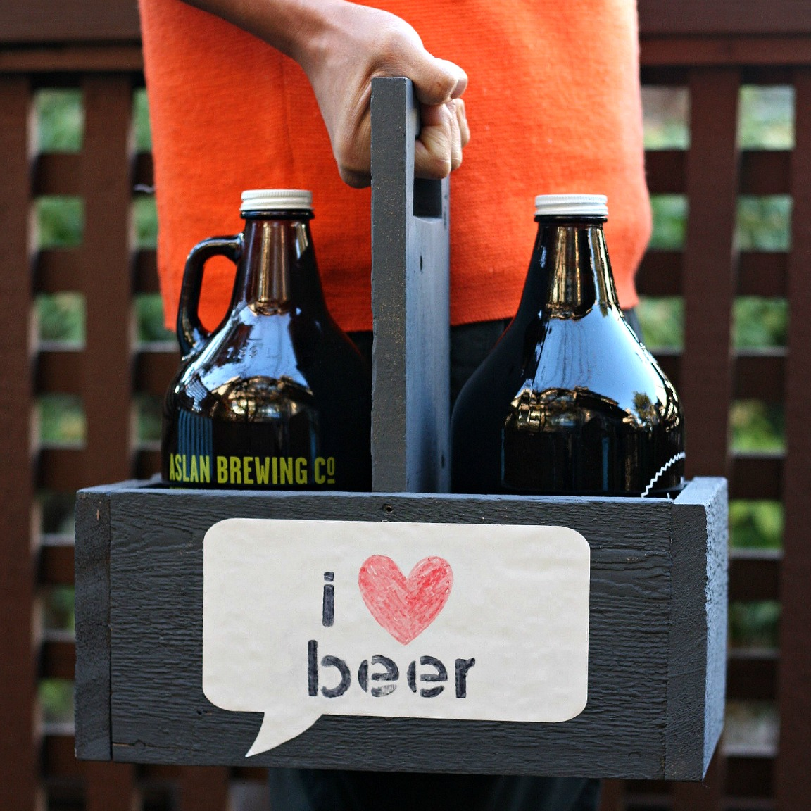 Handmade Gift Idea DIY Growler Carrier With Dry Erase