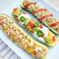 30 Minute Meal- Stuffed Zucchini Recipe with 3 Variations