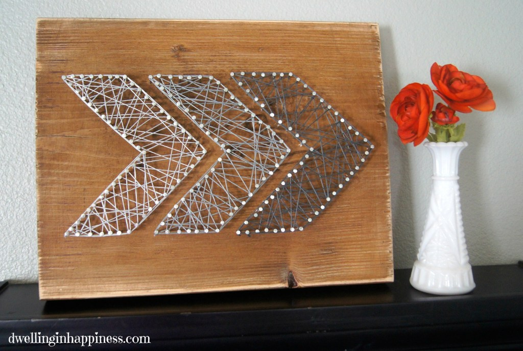 27 Diy String Art Projects Rustic Arrow From Dwelling In Happiness
