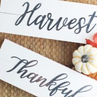 DIY Dollar Store Farmhouse Style Fall Sign Craft